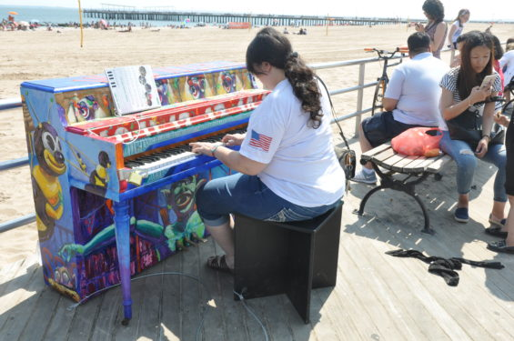 Recently the Boardwalk hosted the colorful piano painted by Christopher Spinelli as part of the City's piano festival.