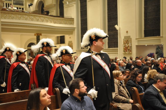 The Knights of Columbus has announced that the ceremonial uniforms for its fourth-degree members will undergo a change. Local Knights are shown in the traditional garb at St. James Cathedral-Basilica, Downtown Brooklyn.