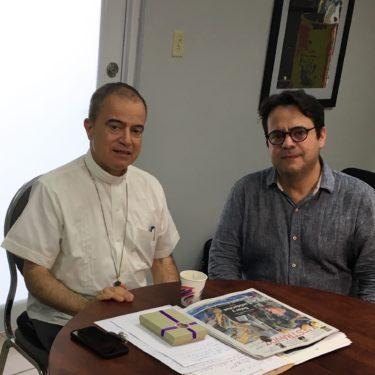 Jorge Dominguez meets with Archbishop Roberto Gonzalez at the Chancery in San Juan.