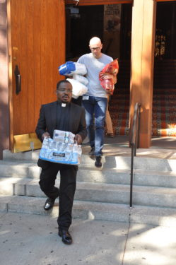Fr. Willy carries