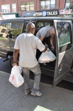 loading van
