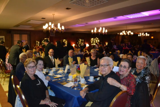 Parishioners at the celebratory dinner dance