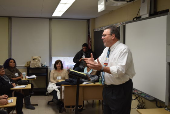 Deacon Kevin McCormack, principal of Xaverian H.S. led a workshop on reaching young people.