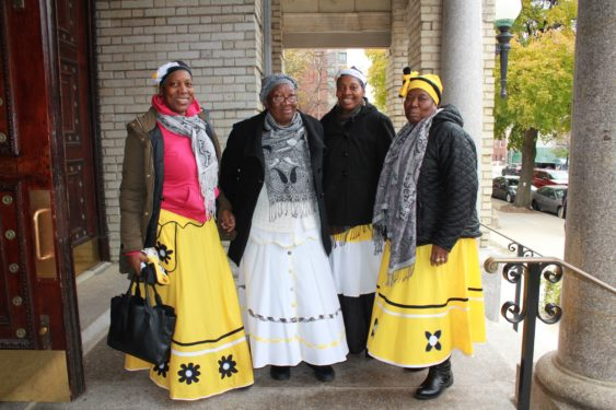 Women from the diocesan Garifuna Ministry participated in the afternoon liturgy.