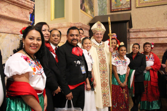 Bishop Nicholas DiMarzio was the main celebrant of the diocesan Migration Mass at the Co-Cathedral of St. Joseph, Prospect Heights, Nov. 18.