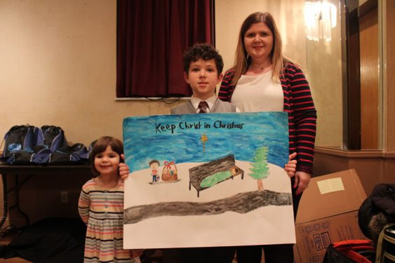 Fifth Grade winner Henry Jeannopoulos and family.