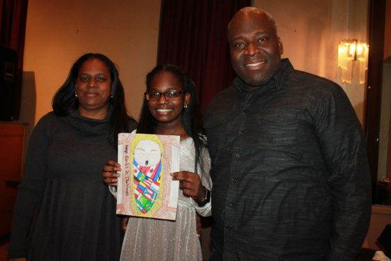 Sixth Grade Winner Logan Tunis and family.