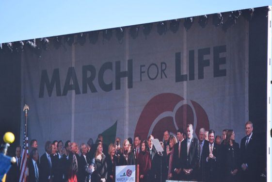 Members of the House address the March for Life crowds in Washington. (Photos:Melissa Enaje)