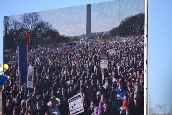 Hundreds of thousands attending the 2018 March for Life listen to the President and members of Congress address their support for the right to life.