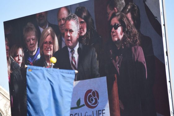 Representatives from New Jersey attend the 2018 March for Life.