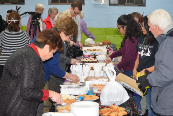 Desserts were brought from all over the neighborhood including many homemade snacks from parishioners.