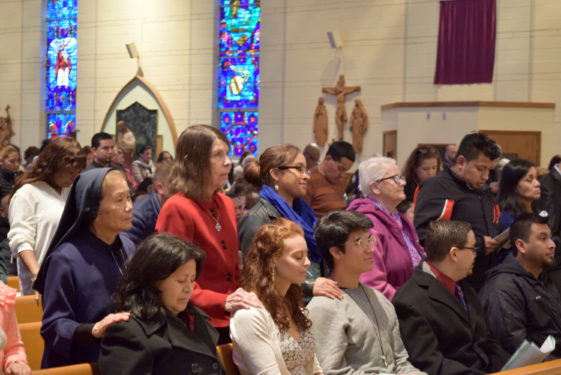 Ninety-one parishes presented nearly 600 candidates at the diocesan rites. At their Easter Vigils, two Queens parishes – St. Leo, Corona and Blessed Sacrament, Jackson Heights, will have at least 40 candidates who will be celebrated and welcomed as new members of the Church.