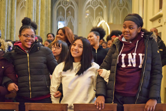 Students and faculty from St. Joseph H.S., Downtown Brooklyn, gathered for their 11th annual Women's Professional Day, held at the Oratory Church of St. Boniface. Guest panelists shared personal success stories to help develop students' self-esteem and encourage self-awareness.