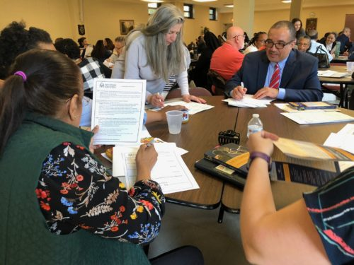 After a day of workshops in Douglaston, parishioners from around the diocese spent time brainstorming new activities and events to host at their parishes.