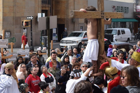 crucifixion from back