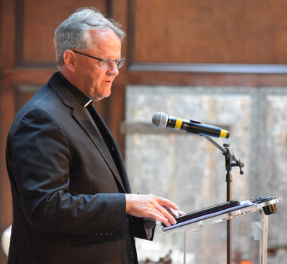 Father Thomas Dailey, guest speaker, spoke about the role of the Catholic Press in today's Church.