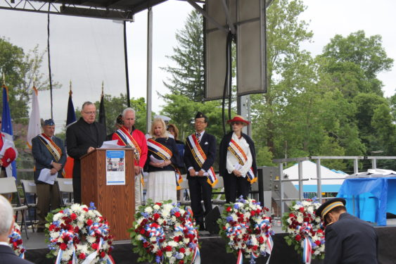 Msgr. Anthony Sherman, pastor of St. Anastasia Church in Douglaston, offered the invocation at the wreath-laying ceremony that preceded the Memorial Day Parade.