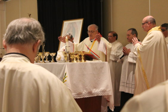 Bishop DiMarzio was the main  celebrant of the closing Mass at V Encuentro in Albany.