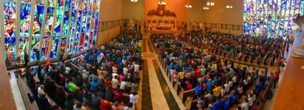 More than 2,000 members of the Cursillo movement from Brooklyn and Queens made a pilgrimage to the National Shrine of Our Lady of Czestochowa, Doylestown, Pa., to celebrate their annual Ultreya de Campo.