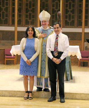 Jubilarian couple from Our Lady of Hope, Middle Village