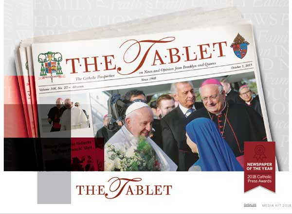 the tablet newspaper reaches more than 75000 homes and churches every week and our website has 65000 page views and 20000 visitors each month