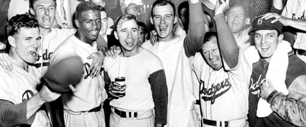 The 1955 World Series champion Brooklyn Dodgers (Photo: Public Domain)