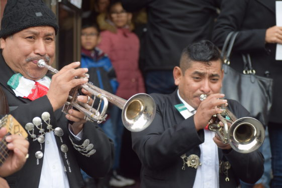 A mariachi band, played as Holy Family-St. Thomas Aquinas parish, Park Slope,  celebrated the installation of new pastor, Auxiliary Bishop James Massa.