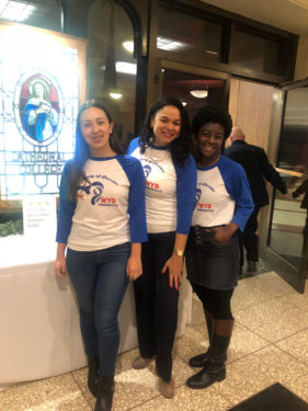 The trio attended the World Youth Day Sendoff Mass at Immaculate Conception Center in Douglaston. (Photo courtesy Angelica Taveras)