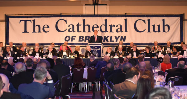 New York City Police Commissioner James O'Neill was the guest speaker at the 119th annual dinner of the Catholic Club of Brooklyn at the Marriott Marquis in Times Square, Feb. 7. O'Neill spoke about how his Catholic upbringing has shaped his views and approach to life.