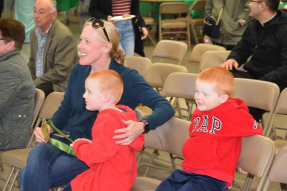 MacCormack's wife and young sons watched and cheered him on.