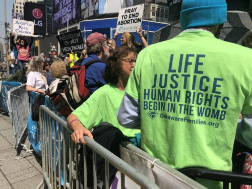 Thousands Attend Historic Rally for Life in Times Square