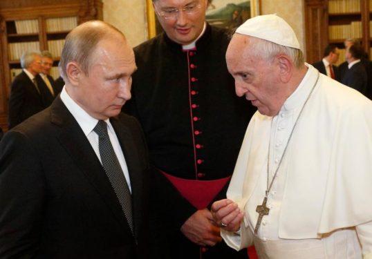POPE MEETING PUTIN VATICAN